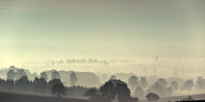 """""""Traumhaft schöne Landschaft vom Nebel durchdrungen"""" – (Bild: 0088)"""